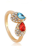 LightInTheBox Exquisite Raindrop Decoration Alloy 18K Gold Plated With Crystal Women's Ring