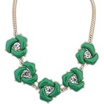 LightInTheBox European Fashion Style (Rose Flower) Resin Party Chain Statement Necklace (More Colors) (1 pc)