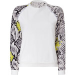 MSGM Cotton Sweatshirt with Printed Sleeves