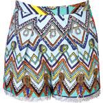 MSGM Cotton-Silk Print Shorts