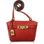 Kožená červená kabelka Ralph Lauren Darwin crossbody
