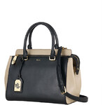 Lauren Ralph Lauren kožená kabelka large Whitby colorblock