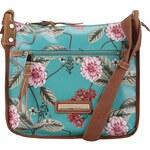 Tyrkysová květovaná crossbody kabelka Liberty by Gionni Anais