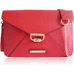 Červená kabelka-psaníčko Anna Smith S7352 červená