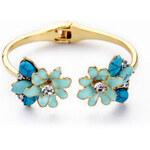 Beyou Náramek Blue Flower bronzový 804-BY