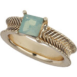 Topshop Green Square Stone Ring