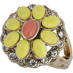 Topshop Yellow Flower Stone Ring