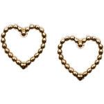Topshop **Open Heart Stud Earrings by Orelia