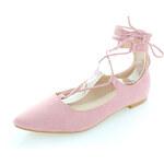 Vices Světle růžové balerínky Lavierta