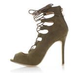 Vices Tmavě zelené sandály Fancy