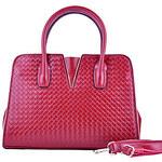 LightInTheBox QDMY Stylish Weave Pattern Zipper Shoulder Bag/Tote(Red)