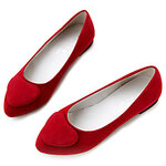 LightInTheBox Faux Leather Women's Flat Heel Ballerina Flats Shoes(More Colors)