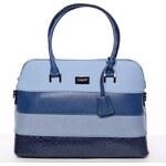 David Jones Trendová dámská kabelka s pruhy Evelyne, modrá
