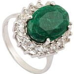 vivance jewels Ring mit Smaragd und Topasen