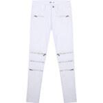 Lesara Skinny-Jeans mit Reißverschluss-Details - Weiß - M