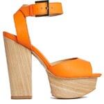 Shellys London - 2-teilige Sandaletten in Orange - Orange