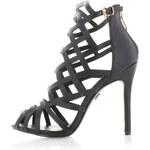 United Fashion Černé sandály Samois