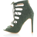United Fashion Tmavě zelené sandály Angel