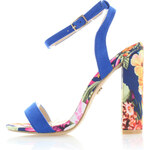 United Fashion Modré květované sandály Iskera