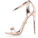 United Fashion Růžovo-zlaté sandály Blanda