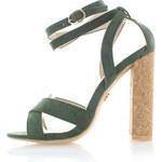 United Fashion Tmavě zelené sandály Narita