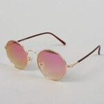 MD Sunglasses Flower zlaté / růžové