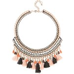 Promod Chunky beads & tassle necklace
