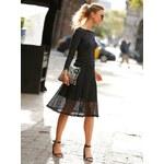 Venca Úpletová sukně se síťovinou černá