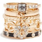 GUESS GUESS Gold-Tone Stacker Ring Set - gold
