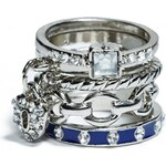 GUESS GUESS Silver-Tone Stacker Ring Set - silver