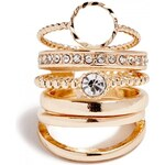 GUESS GUESS Gold-Tone Dainty Ring Set - gold