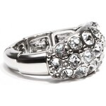 GUESS GUESS Silver-Tone Stretch Bling Ring - silver