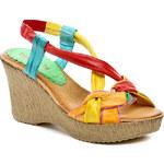 Bertuchi 4130 barevné dámské sandály na klínu - POŠTOVNÉ ZDARMA - POŠTOVNÉ ZDARMA