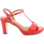 Červené sandály na podpatku MARIA MARE