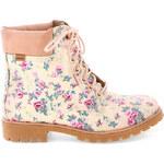 Světlé květované boty farmářky MTNG
