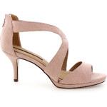 Světle růžové sandály na podpatku MARIA MARE