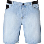 Each Other Jean Shorts with Leather Trim