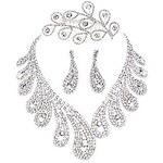 LightInTheBox Shining Alloy Silver Plated With Rhinestone Wedding Bridal Tiara Necklace Earrings Jewelry Set