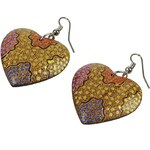 náušnice Sittar Heart - Multicolor