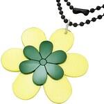 náhrdelník 316L FNN021BA - Yellow/Green Flower 730 mm
