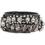 LightInTheBox Zircon-Studded Wide Leather Bracelet