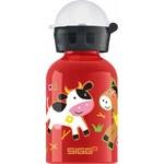 láhev na pití Sigg 8504.80/New Farmyard Family - Red 0.3 L