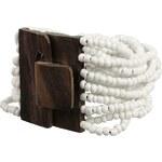náramek Sittar Hetauda - Brown Wood/White