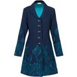LOTUS dámský kabát - modrozelený potisk NOmads