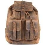 Kožený batoh GreenLand 2512-52, hnědá