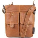 Kožená taška přes rameno GreenLand 2210 - sv. hnědá
