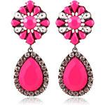 Lesara Statement-Ohrringe mit Strass - Pink