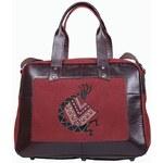 Kabelkový Slon Cestovní taška vínová TRAVELER 51