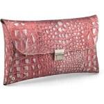 Italské kabelky a peněženky Miramare kožené psaníčko kroko vínové