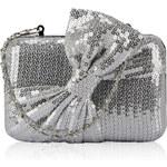 LS fashion Společenská stříbrná kabelka